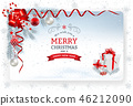 Christmas And New Year Greeting Card 46212090