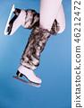 woman, feet, skate 46212472