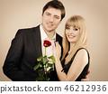 couple love rose 46212936