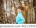 girl, park, winter 46212949