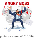 angry boss business 46213084