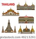 Thai travel landmark of Bangkok architecture 46213261