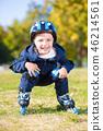 Cheerful little boy 46214561