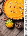 Autumn pumpkin pie 46215774