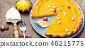 Autumn pumpkin pie 46215775