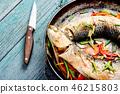 Tasty baked whole fish 46215803