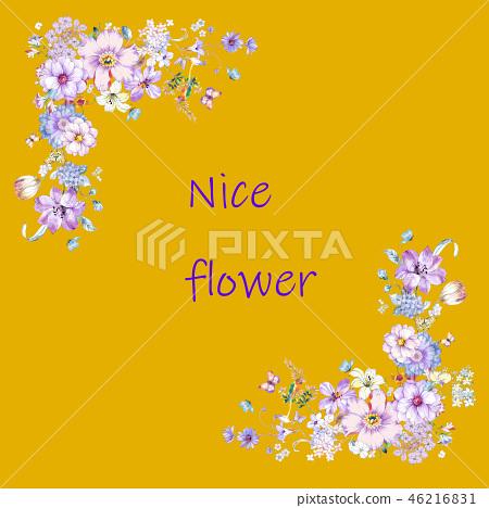 美麗的花,牡丹花,菊花,野花,花日本數字 46216831