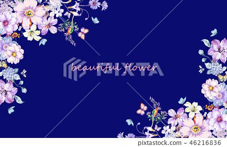 美麗的花,牡丹花,菊花,野花,花日本數字 46216836