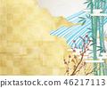 金葉 木材背景 背景 46217113