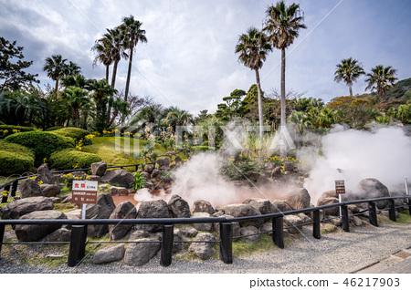 日本 溫泉 海地獄 蒸氣 周邊 觀光 景點 温泉 国指定名勝 umi jigoku see hell 46217903