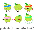 Cute smiling happy strong apple  46218476