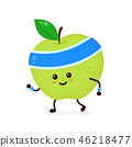 Cute smiling happy strong apple  46218477