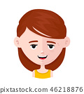 Half smiling face. Young and wrinkle lady  46218876