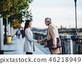 senior, couple, businessman 46218949