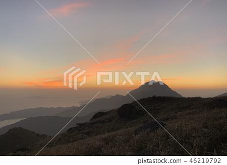 sunet peak in hong kong lantau island 46219792