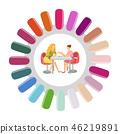 Manicure Round Nails Pallet Manicurist and Client 46219891