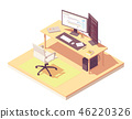 Vector isometric programmer workplace 46220326