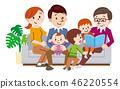 Happy Three Generation Family 46220554