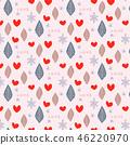 與葉子,心臟和雪花的無縫的樣式 46220970