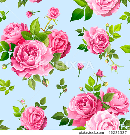 Seamless pattern with rose flowers 46221327
