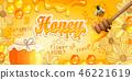 Natural floral honey banner. 46221619