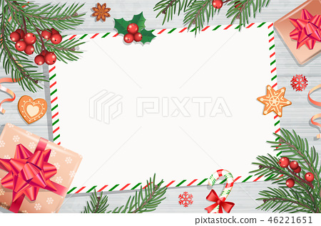 Template of Christmas letters and wishes. 46221651