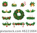 Christmas Decoration of Spruce and Jingle Bells 46221664