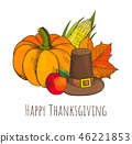 thanksgiving vector poster 46221853