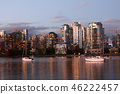 Sunset view of Vancouver across bay 46222457