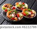 Beautiful seafood cocktail salad 46222786