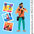 photographer couple vector 46223182