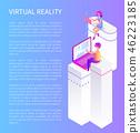 virtual gaming vector 46223185
