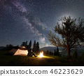 tent, camping, fire 46223629