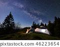 tent, sky, night 46223654