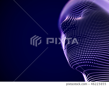 Virtual reality concept: abstract visualization of artificial intelligence 46223855