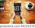 Sales 101 with a person holding a tablet 46224238