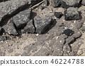 destruction asphalt road piece 46224788