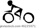 Silhouette of bicycle 46225071