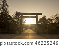 伊势神宫Nakamiya宇治桥日出 46225249