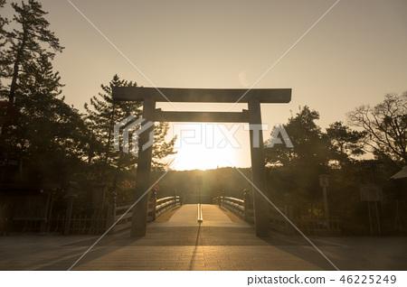 Sunrise of Ise shrine Nakamiya Uji Bridge 46225249