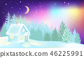 Winter, forest, house 46225991