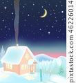 house, mountain, night 46226014