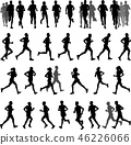 run, runner, silhouette 46226066