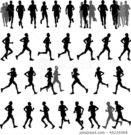 runners silhouettes collection 46226066