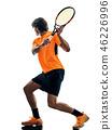 网球 球员 侧影 46226996