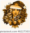 girl beautiful illustration 46227303