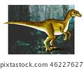 velociraptor dinosaur illustration hand drawn comic style 46227627