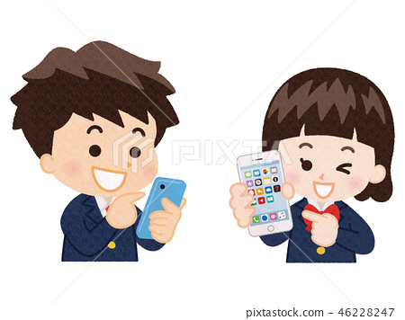 Student with a smartphone 46228247