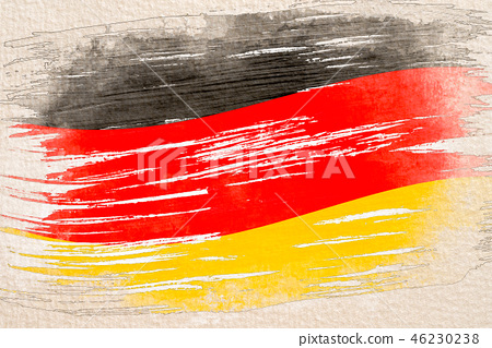 watercolor sketch painting of the Germany flag 46230238