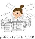 비즈니스, 비즈니스우먼, 서류 46230289